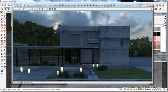 Emitter light vray sketchup