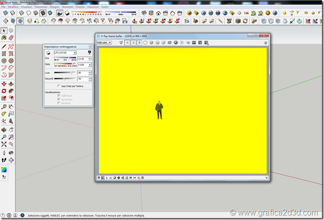 Vray sketchup render giallo