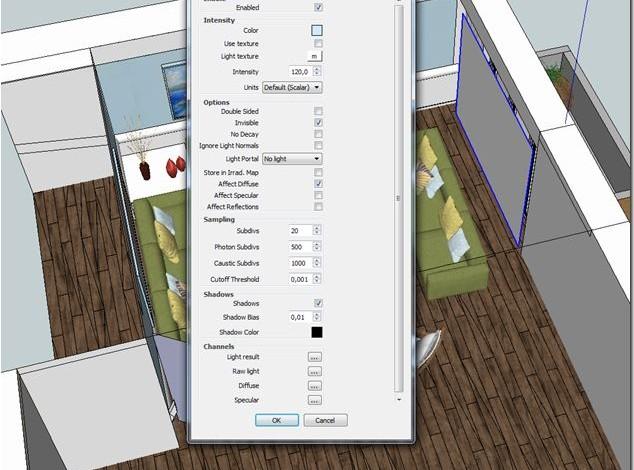 Vray sketchup tutorial interior #170