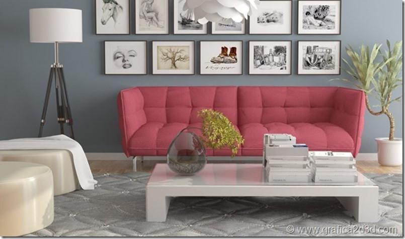 Vray sketchup tutorial interior living room 156
