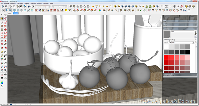 Potato material test vray sketchup