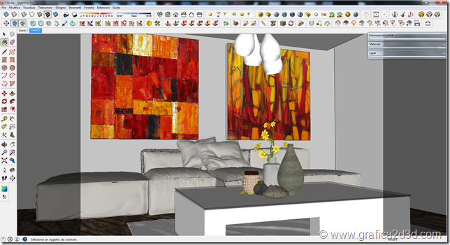 Living room house C. vray sketchup making of