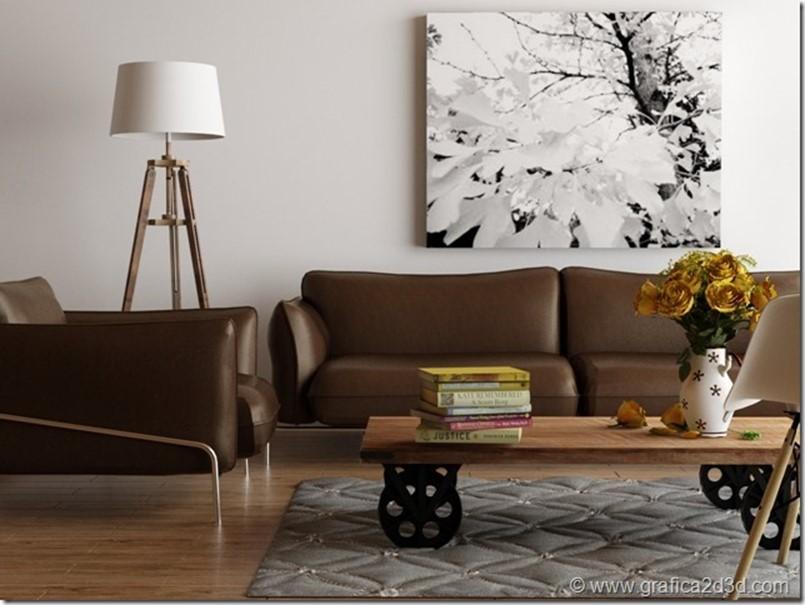 Living room – vray sketchup scene181