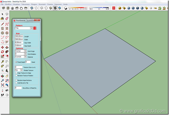 Foor generator plugin for sketchup 2016