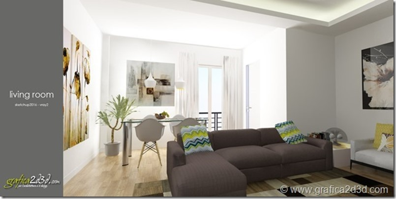 Living room vray sketchup tutorial 27f
