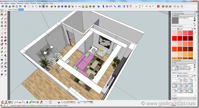 Living room  vray sketchup tutorial 27f
