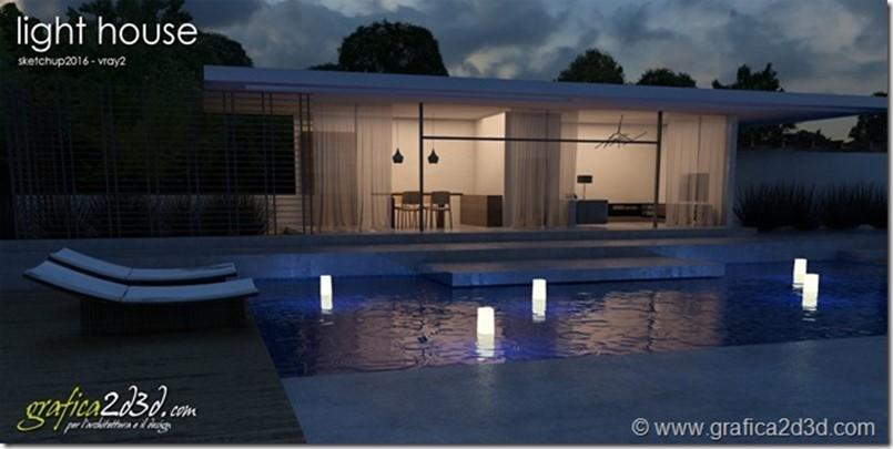 Tutorial vray sketchup light house