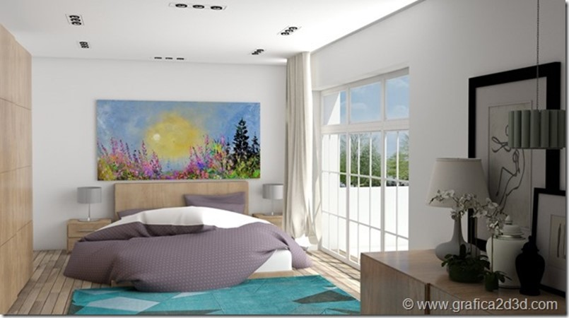 bedroom int18 vray sketchup interior