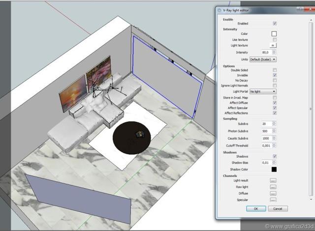 Vray sketchup interior tutorial scene #444
