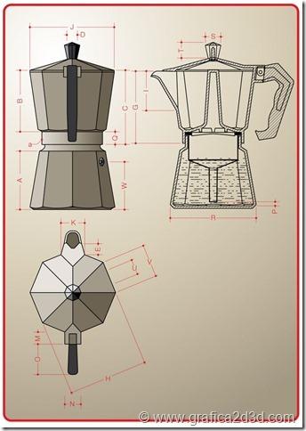 Esercitazione modellazione autocad macchinetta caffe
