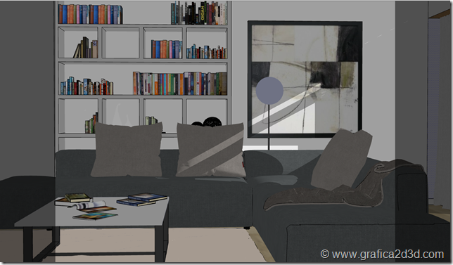 Tutorial interior vray 3.5 sketchup 2017 scene b.