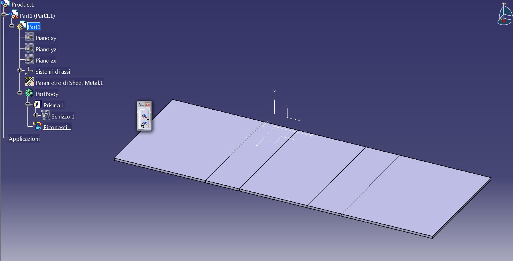 Catia v5 riconoscimento lamiera sheet metal design