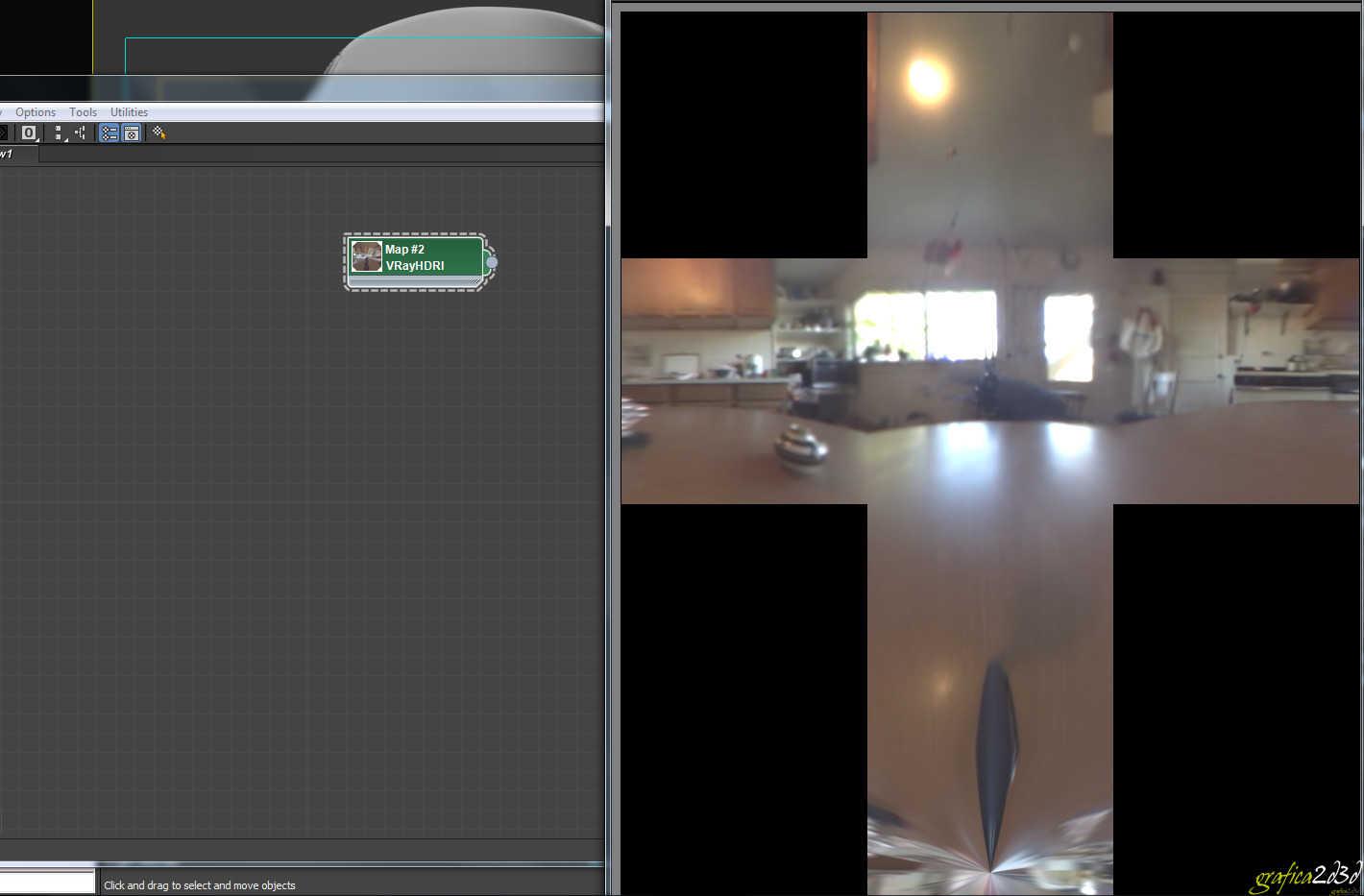 Render di un oggetto con vray e 3d studio max con luce hdri