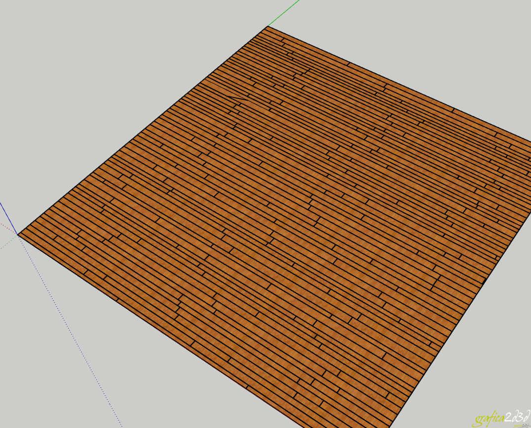 Come creare un pavimento 3d con floorgenerator in sketchup