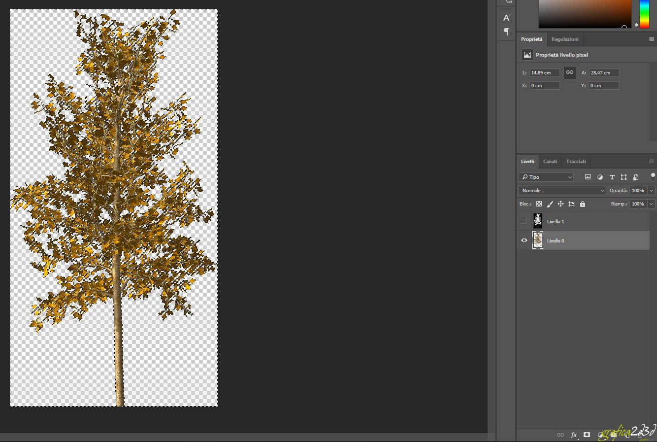 Come scontornare un immagine con canale alpha come file a parte.