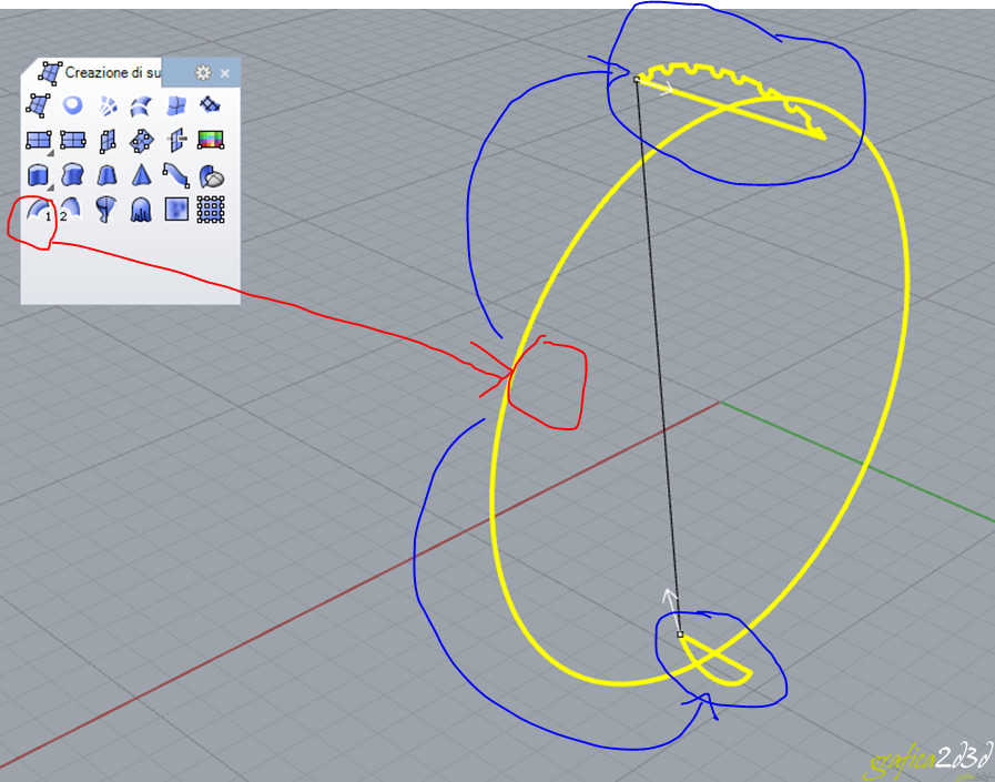 Disegnare un anello in rhinoceros partendo dalle sezioni