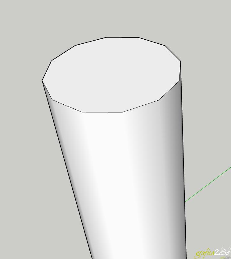 Pilastro sfaccettato sketchup come risolvere il problema