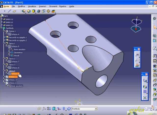Catia v5 esercitazione modellazione part design
