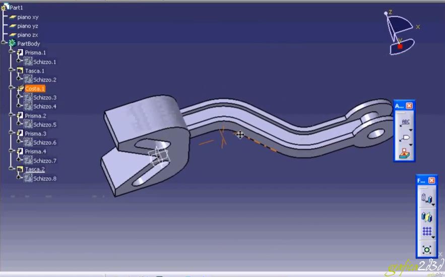 Tutorial modellazione catia v5 gancio traino