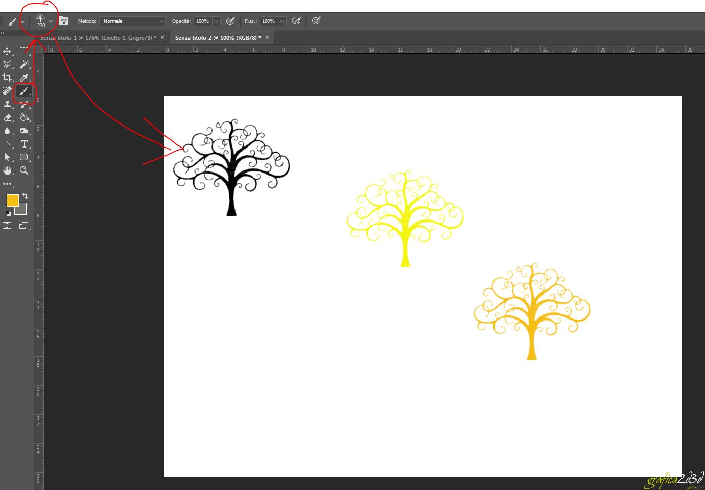 Come creare un pennello personalizzato con photoshop