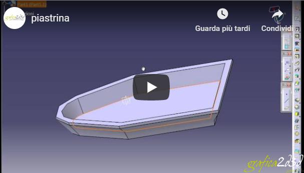 Tutorial part design catia v5 piastrina