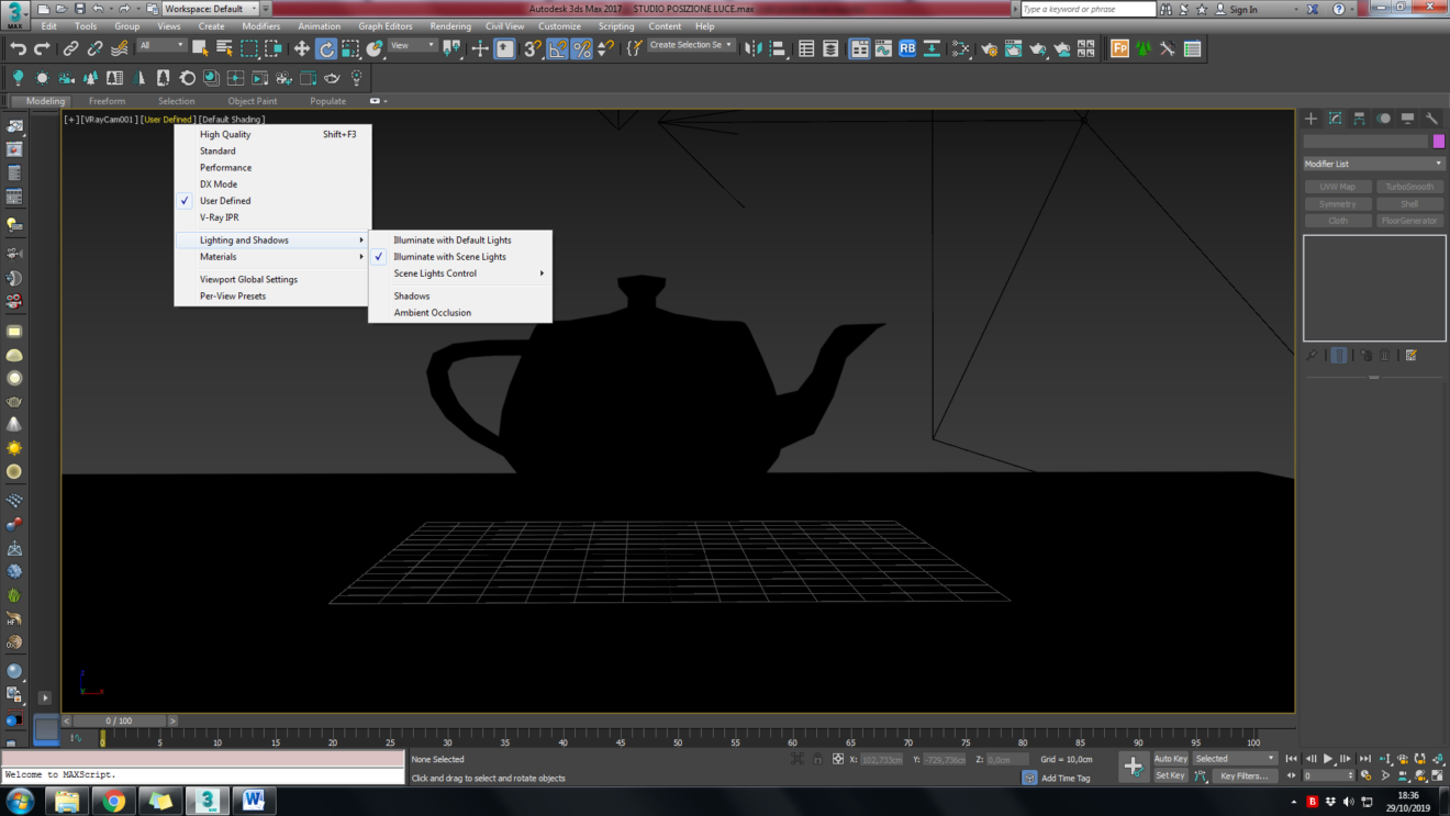3d studio max vista viewport 3d nera