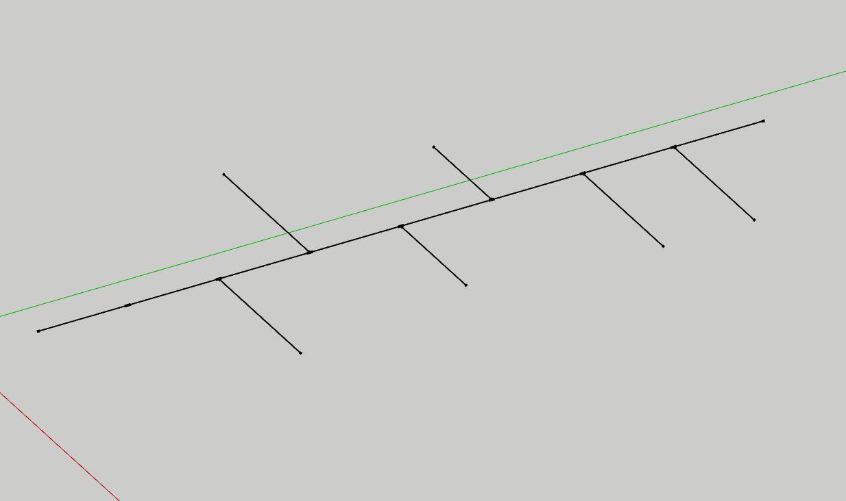 Sketchup dividere una linea in piu parti