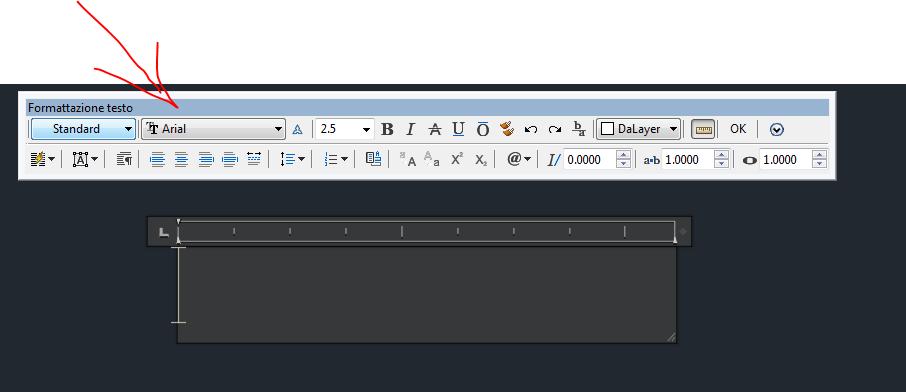 Autocad far ricomparire barra degli strumenti testo multiriga