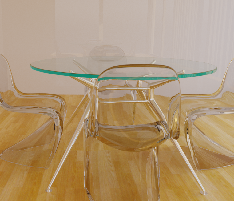 Vray 3d studio impostare materiale vetro tavolo