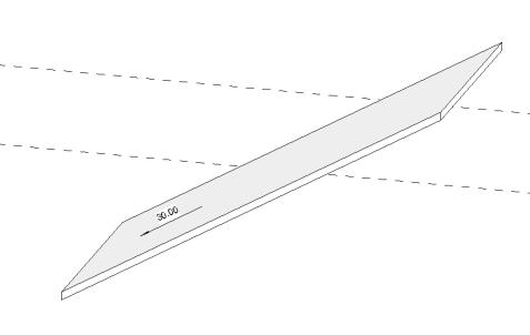 Creare un tetto a falde in revit assegnando un angolo di inclinazione