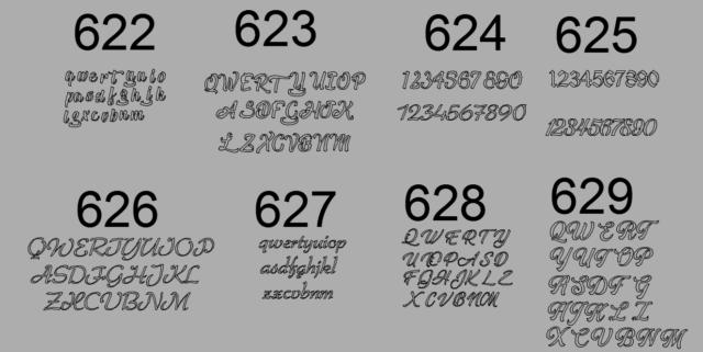 Lettere e numeri per cnc taglio al plasma